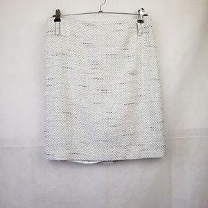 White House Black Market White Skirt Size 6